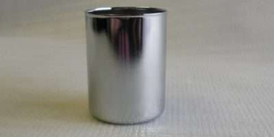 Steel Candle Cup High Diameter Chrome Finish Lamp