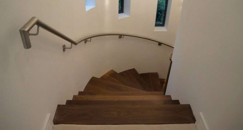 Steel Walnut Feature Staircase Top