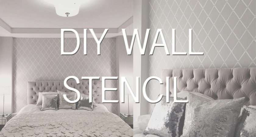 Stencil Paint Wall Diy Effect Youtube