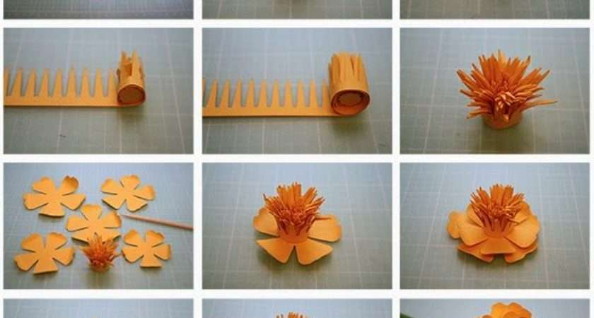 Step Diy Papers Made Flower Craft Ideas