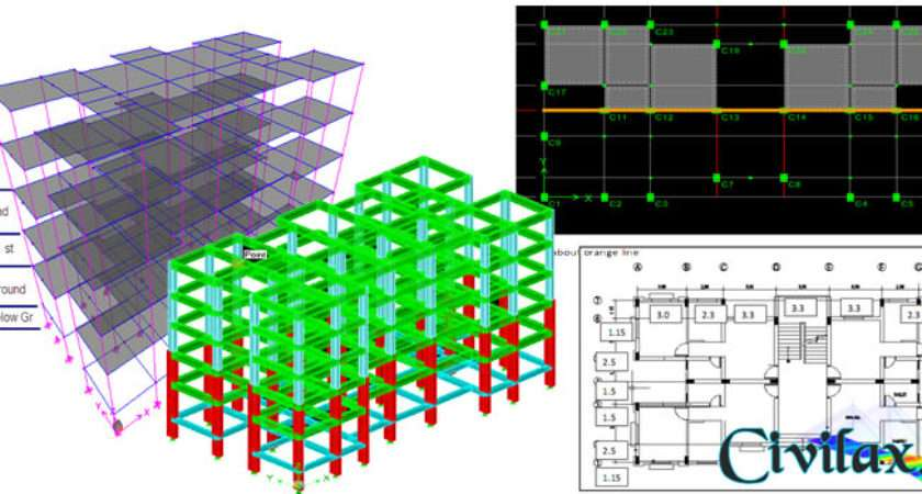 Step Guide Modelling Analysis Storey Building
