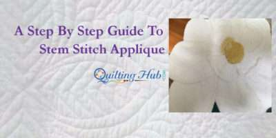 Step Guide Stem Stitch Applique
