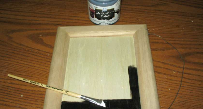 Step One Apply First Coat Chalkboard Paint Middle Wood