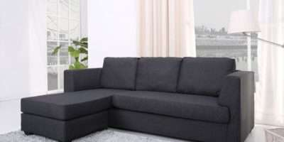 Stockholm Corner Sofa Interchanging Chaise Charcoal Grey