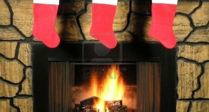 Stockings Fireplace Christmas Clipart