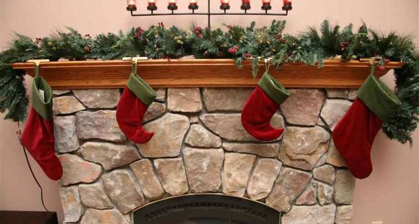 Stockings Over Fireplace Candles