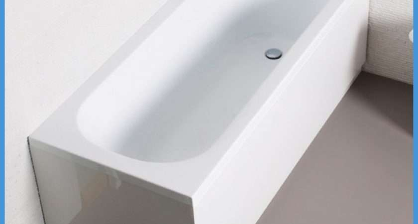Straight White Bath Modern Bathroom Acrylic End Panel