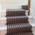 Striped Carpet Runner Stair Rods