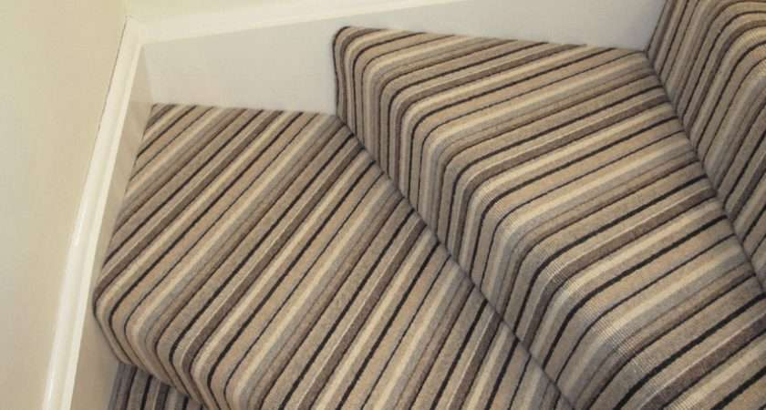 Striped Carpet Stairs Around Corners Paint Colours Pinterest