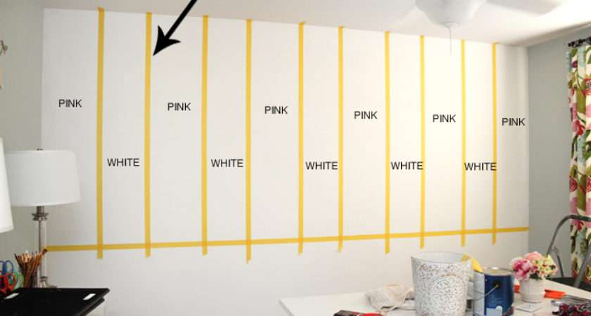 Striped Craft Room Walls Nest Less