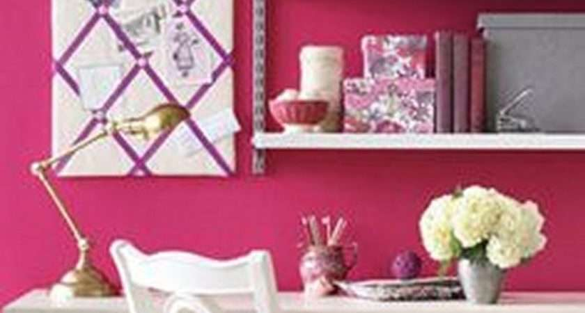 Study Pink Fabulous Home Office Styles