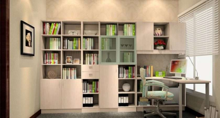 Study Room Design Interior Bookcase