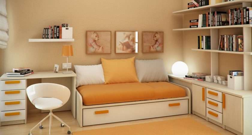 Study Room Design Sergi Mengot Orange Style Small Kids