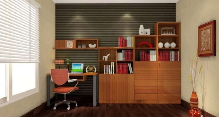 Study Room Modern Design Desk Beautiful