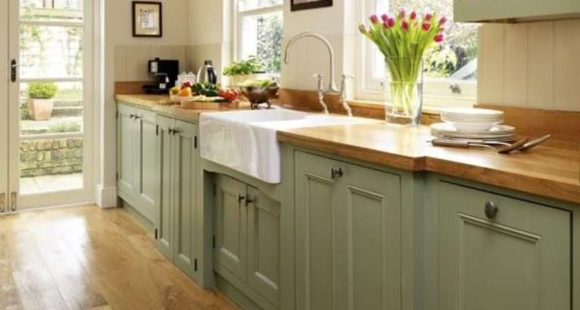 Style Kitchen Green Painted Galley