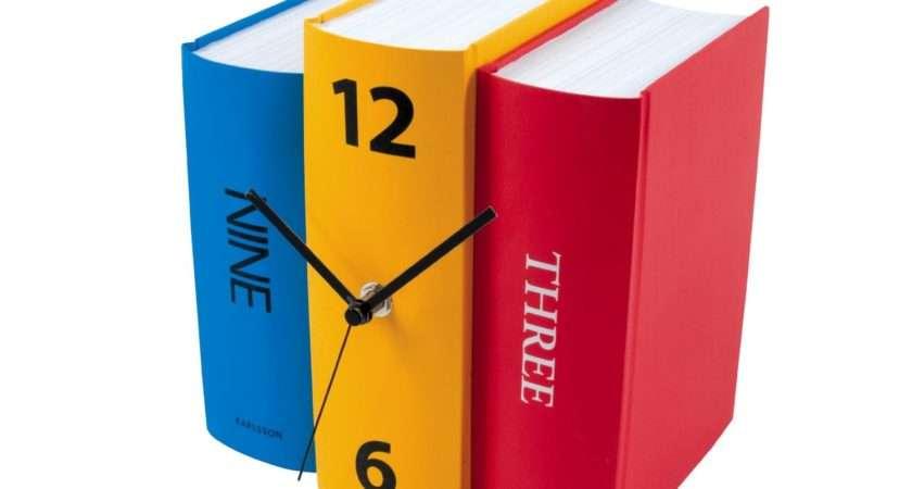 Such Clever Way Spice Your Bookshelf Karlsson Table Clock