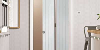 Suffolk White Primed Bifold Panel Effect Fold Doors