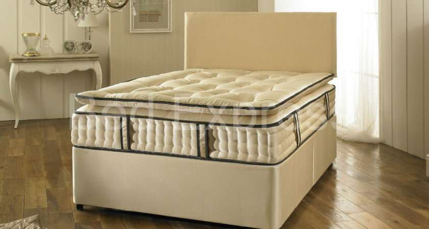 Super King Pocket Spring Quilted Pillow Top