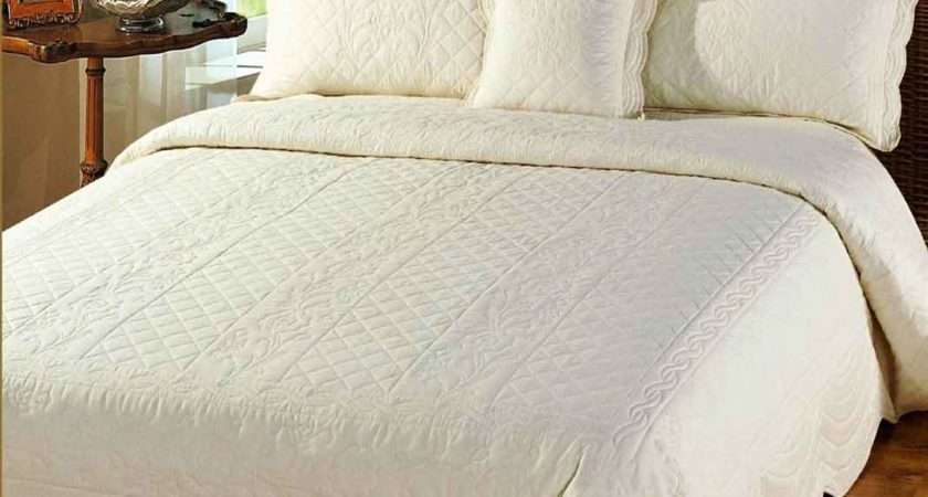 Superking Quilted Bedspreads Linen Lace Patchwork