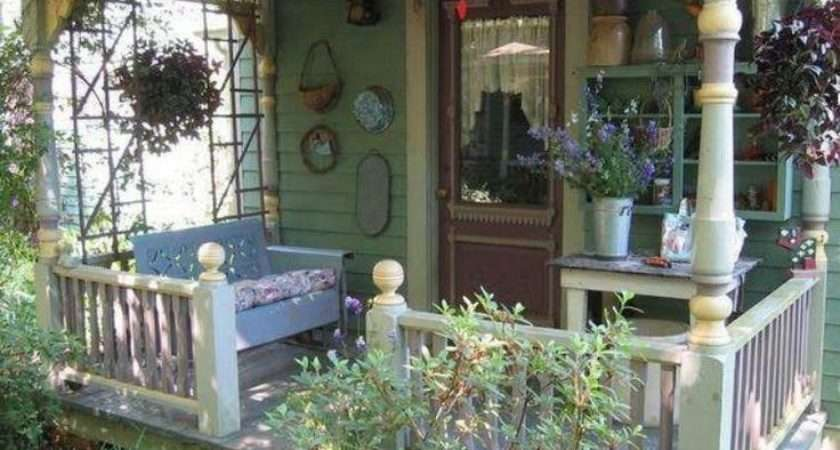 Sweet Country Cottage Style Front Porch Sunroom Catio