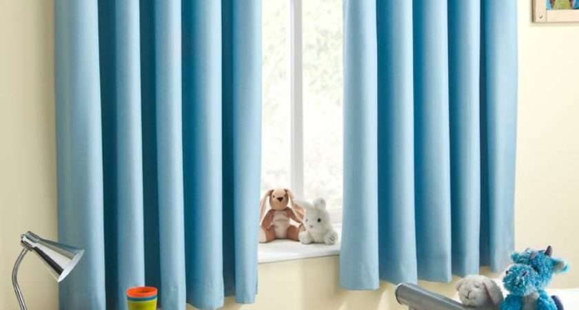 Sweetheart Blue Eyelet Curtain Ready Made Curtains