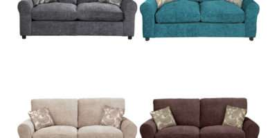 Tabitha Fabric Metal Action Small Double Sofa Bed Choice