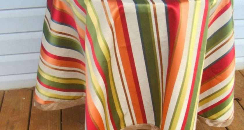 Tablecloths Astonishing Outdoor Round