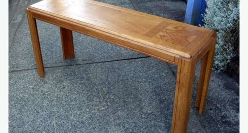 Tall Narrow Oak Sofa Table Good Hall Foyer