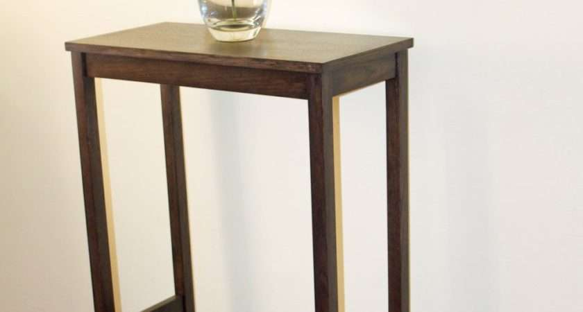 Tall Narrow Wooden Console Table