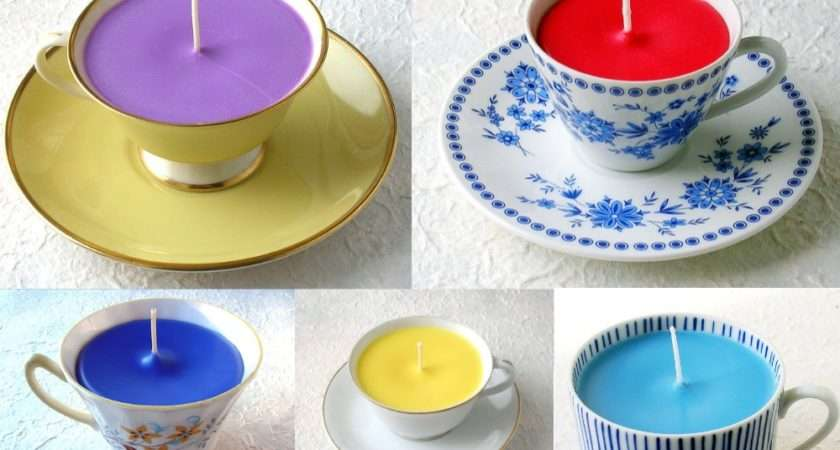 Teacup Candle Collage