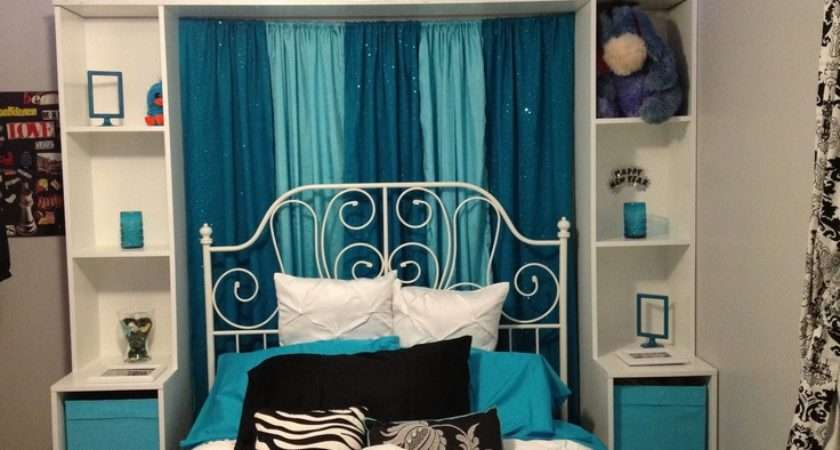 Teal Aqua Black White Bedroom Ideas Pinterest