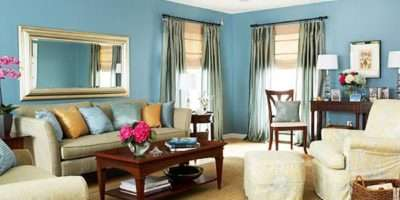Teal Black Gold Fabric Living Room Edede Golime