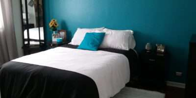 Teal Brown Bedroom Home Decorating Ideas
