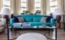 Teal Brown Living Room Turquoise