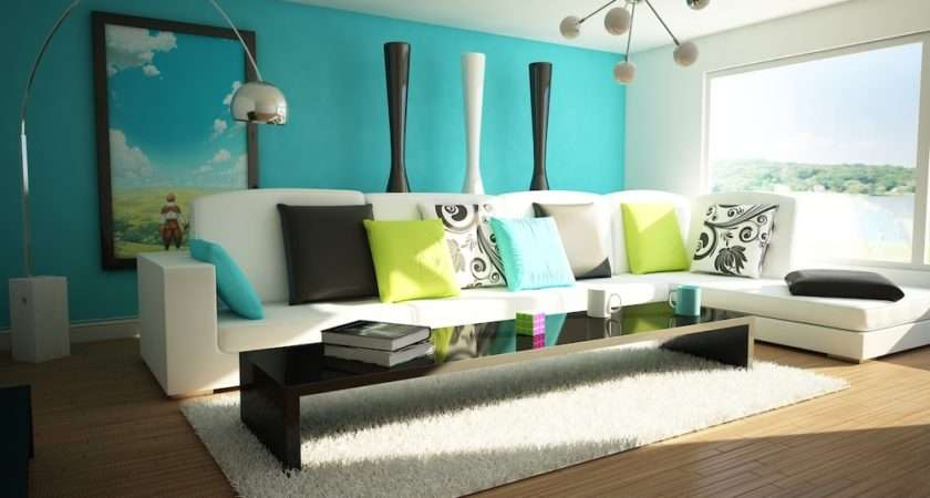 Teal Living Room Designs
