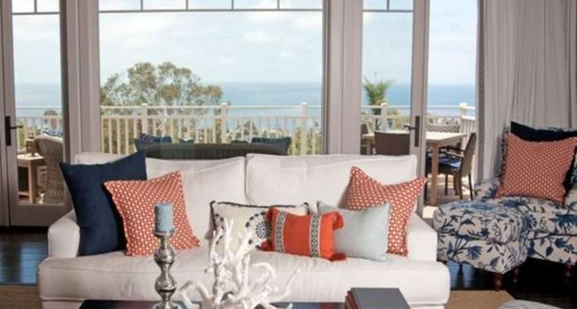 Teal Orange Living Room Decor
