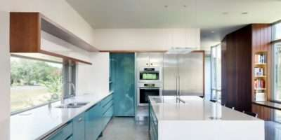 Teal White Wood Kitchen Home Decorating Trends Homedit