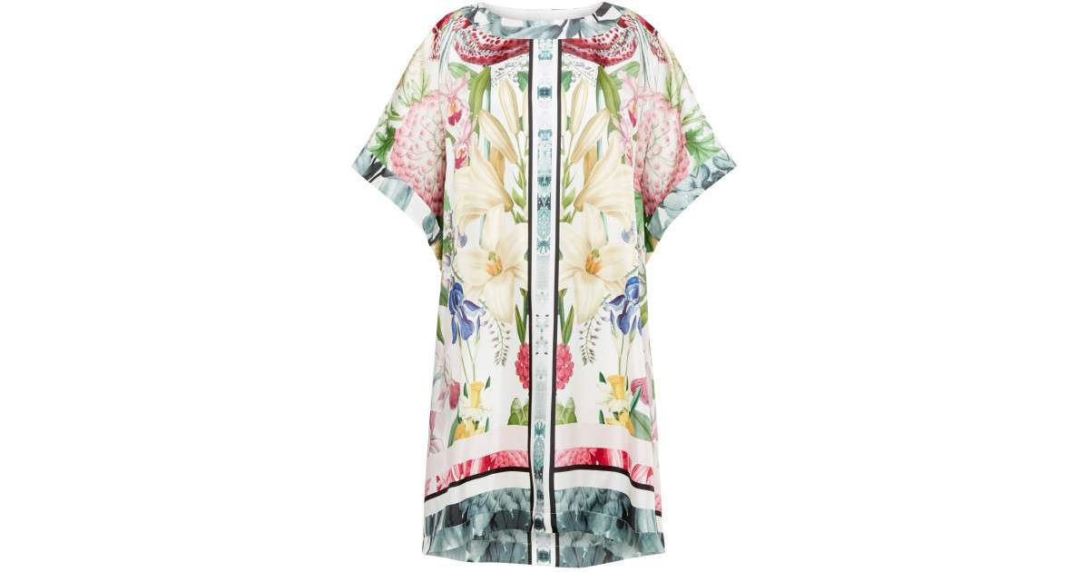 Ted Baker Geyle Encyclopaedia Floral Loose Fit Tunic Dress