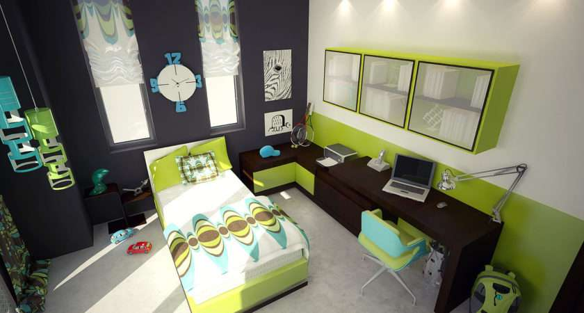 Teen Bedroom Sophisticated Green Accents Aspa