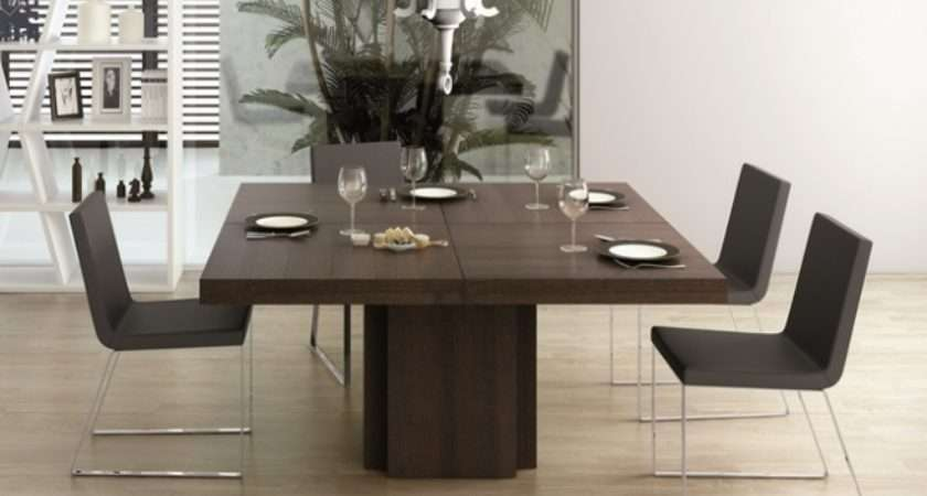 Temahome Dusk Square Dining Table Chocolate Oak Veneer