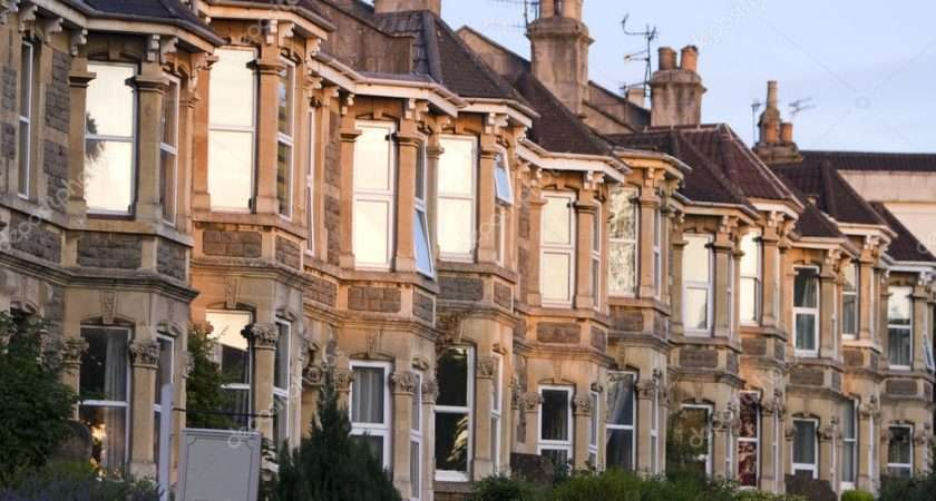 Terrace Typically British Victorian Houses