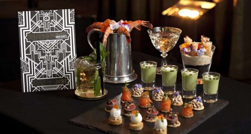 Theme Party Food Beverage Ideas Great Gatsby Fiestah