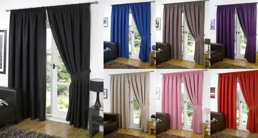 Thermal Blackout Curtains Eyelet Ring Top Pencil Pleat Tie