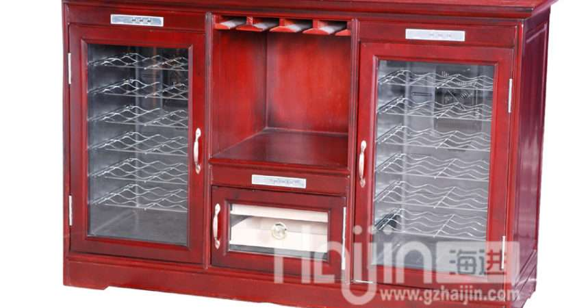 Thermostat Wooden Wine Cabinet Chiller Photos