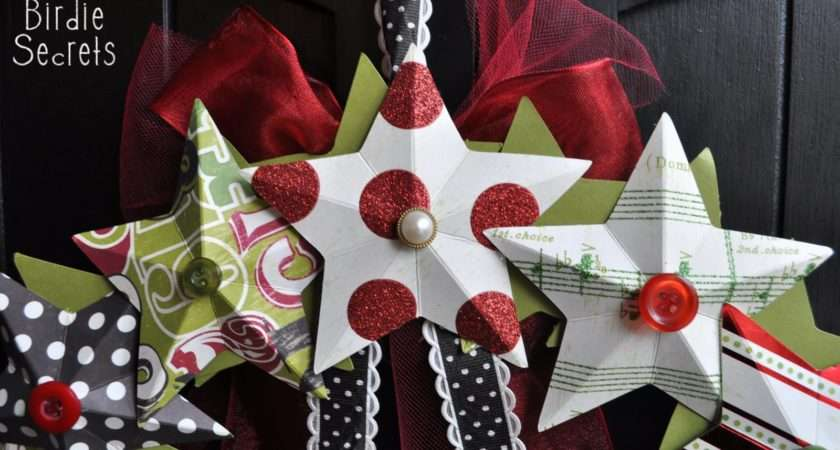 These Stars Also Great Ornaments Just Glue Ribbon Hanger