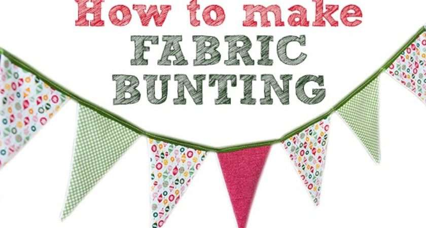 Thousand Words Make Fabric Bunting