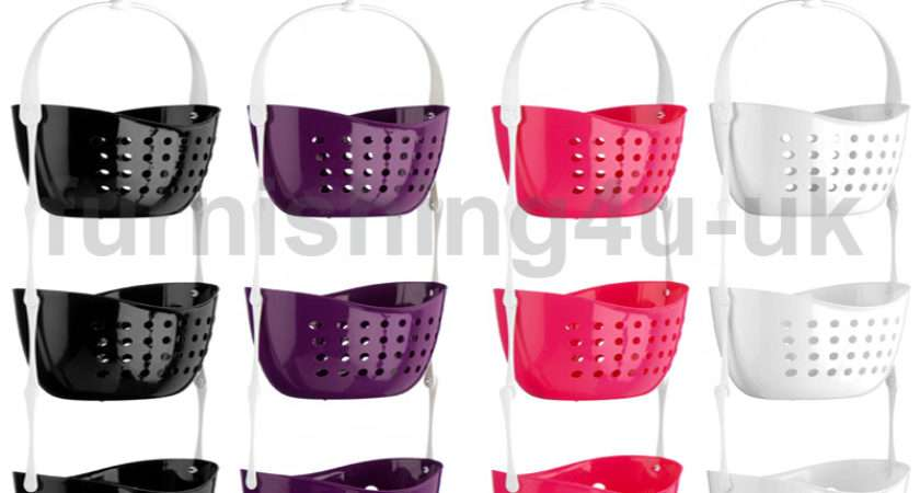 Tier Shower Caddy Bath Rack Plastic Hanging Over Basket Unit