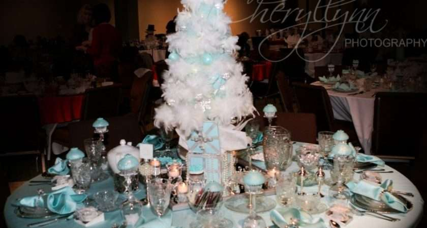 Tiffany Inspired Christmas Tea Table Centerpieces Pinterest
