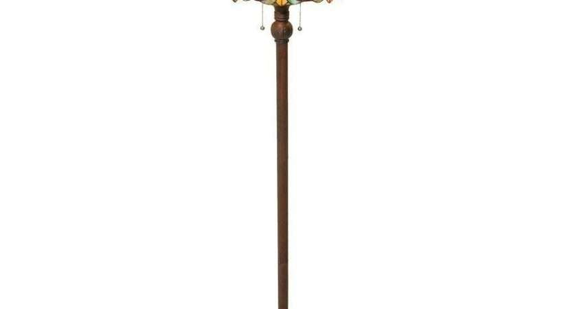 Tiffany Style Floor Lamps Glancing Flowing Leaf