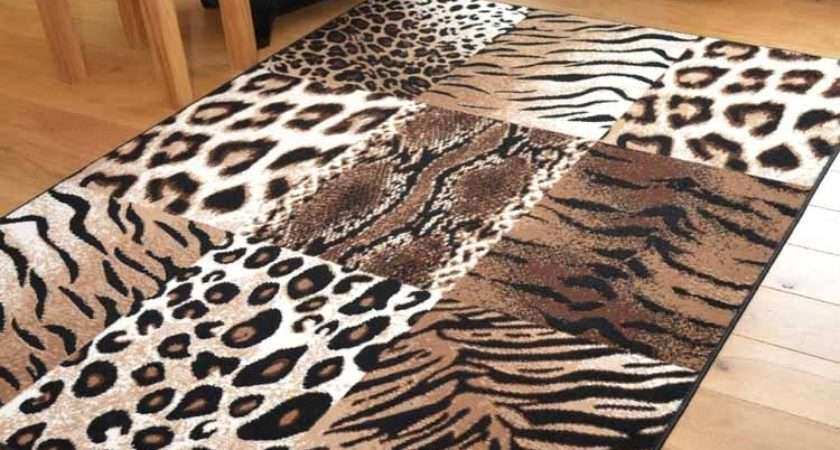 Tiger Leopard Animal Print Hall Runners Small Extra Large